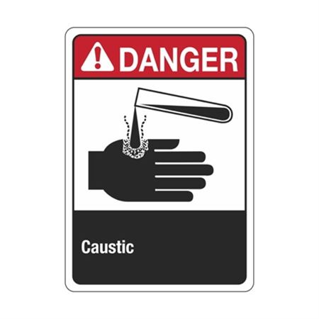 Danger Caustic Sign