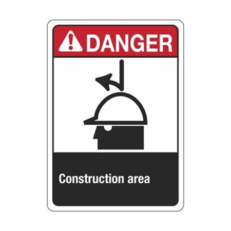 ANSI Danger Construction Area Sign - Graphic