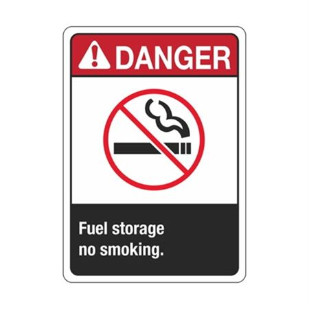 ANSI Danger Fuel Storage No Smoking Sign