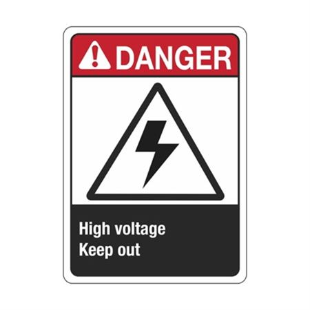 ANSI Danger High Voltage Keep Out Sign