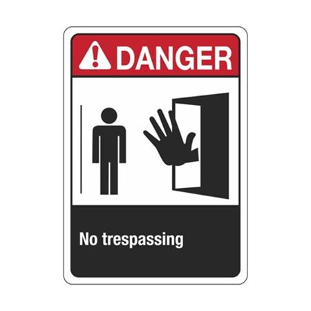 ANSI Danger No Trespassing Sign