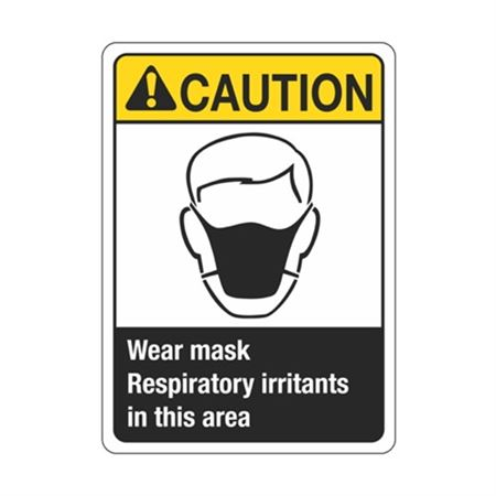 Caution Wear Mask Respiratory Irritants In This Area Sign