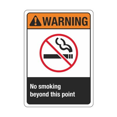 Warning No Smoking Beyond This Point Sign