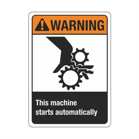 Warning ThisMachineStartsAutomatically Sign