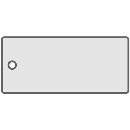 All-Write Aluminum Tags - Plain/Roundhole/Punch - Silver 1-3/8 x 3-1/8