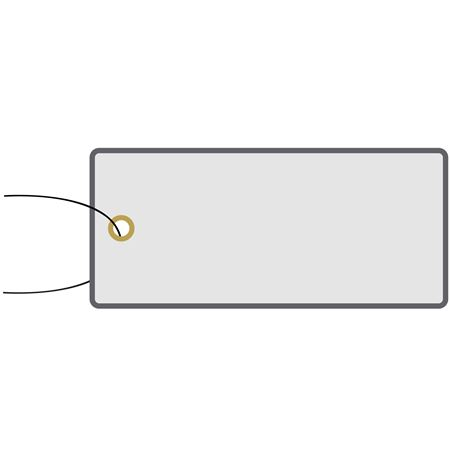 All-Write Aluminum Tags - Plain w/Brass Eyelets & Wire Attached 1 3/8 Inch x 3 1/8 Inch
