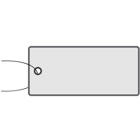 All-Write Aluminum Tags - Plain w/Wire Attached 1 3/8 Inch x 3 1/8 Inch