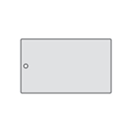 All-Write Aluminum Tags - Plain/Roundhole/Punch 3 x 5
