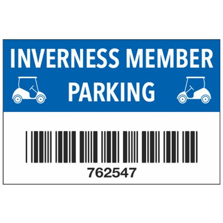 Barcoded Code 128 Parking Permits 2 x 3