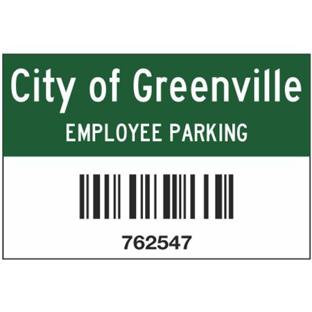 Barcoded Code 39 Parking Permits 2 x 3