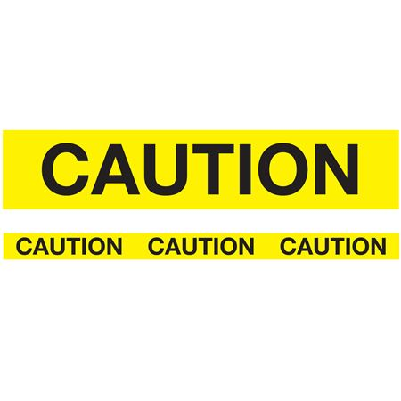 Biodegradable Barricade Tape - Caution-Yellow 3 inches x 150 feet