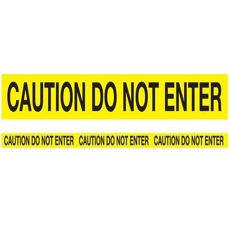 Biodegradable Barricade Tape - Caution Do Not Enter-Yellow 3 x 150 feet