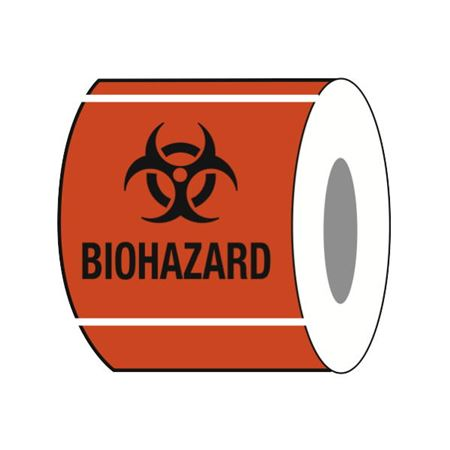 Paper Labels Biohazard 4 x 4