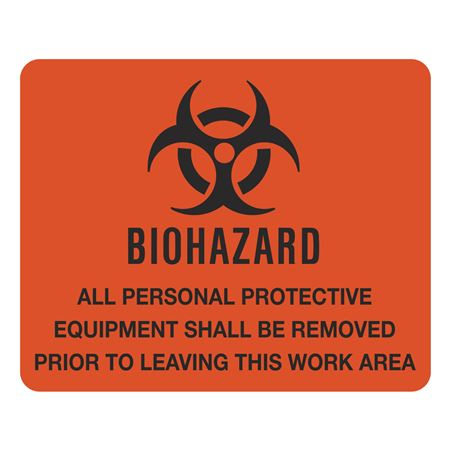 Biohazard Vinyl Sign 10 1/2 x 8 1/2