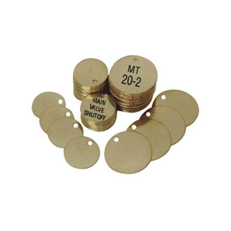 "Custom Brass Valve Tags - 2"" Round Custom Engraved"