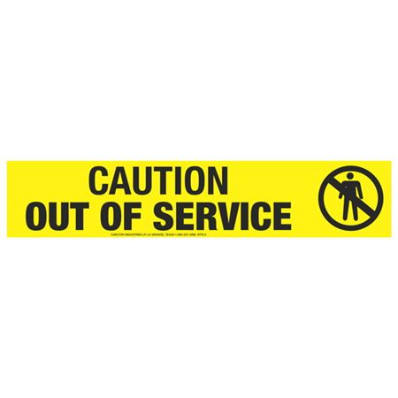 Caution Out of Service (Graphic) Tape