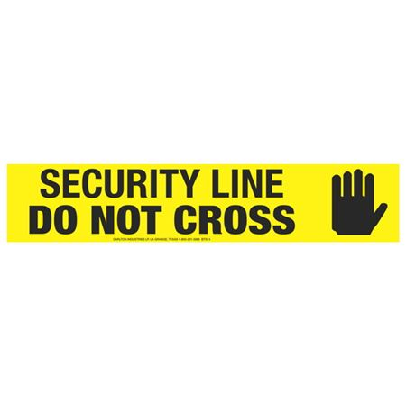 Security Line Do Not Cross (Graphic) Tape