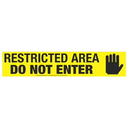 Restricted Area Do Not Enter (Graphic) Tape