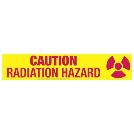 Caution Radiation Hazard Tape