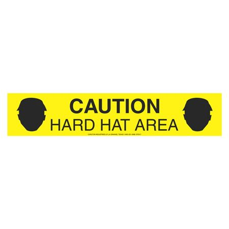 "Caution Hard Hat Area (Graphic) 3"" x 1000'"