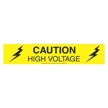 Caution High Voltage (Graphic) - 1000 Feet