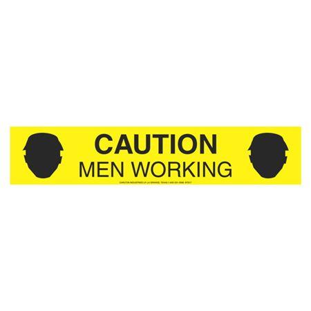 """Caution Men Working (Graphic) 3"""" x 1000'"""