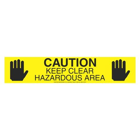 Caution Keep Clear Hazardous Area (Graphic) - 1000 Feet