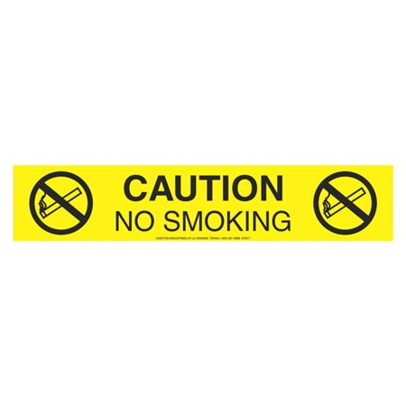 Caution No Smoking (Graphic) - 1000 Feet