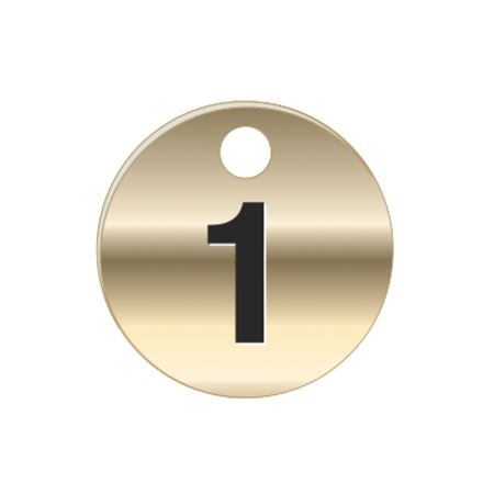Brass Tags - Numbers 1-25 - PK/25