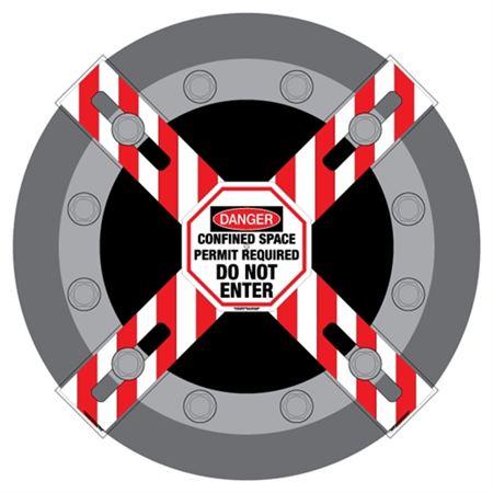 Man-Way Cross Barrier Confined Space Do Not Enter