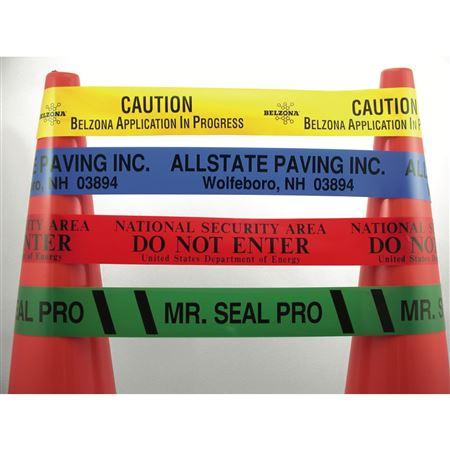 "Custom 4 Mil Roll of Barricade Tape 3"" x 1000'"