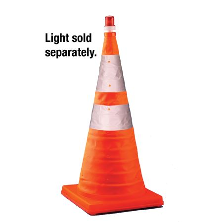 "Collapsible Traffic Cone - 12.5 x 12.5 x 28"" high"