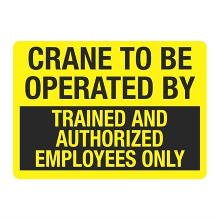 Crane To Be Operated By Sign