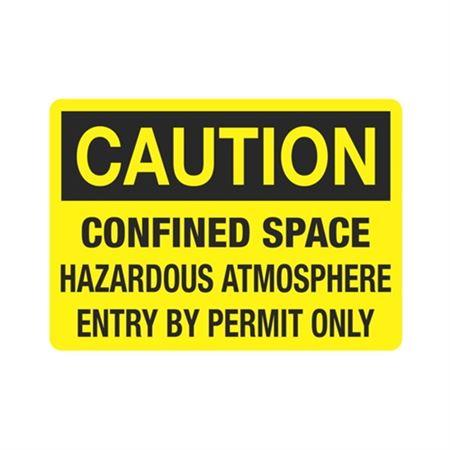 CautionConfinedSpaceHazardousAtmos. EnterByPermitOnly