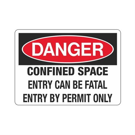 Danger ConfinedSpace EntryCanBeFatal EntryByPermitOnly