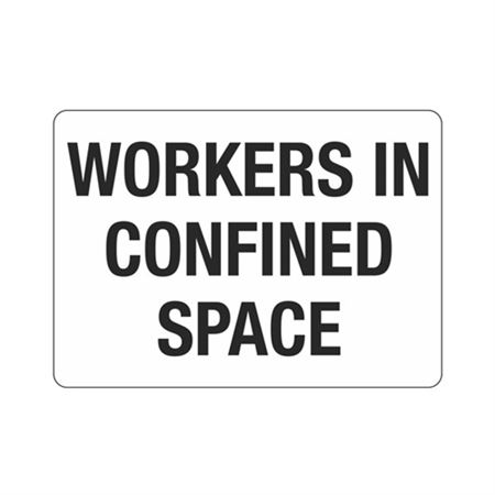 Workers in Confined Space  Sign