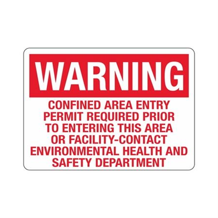 Warning Confined Area Entry Permit Reqd. Prior To Entering