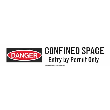 """Confined Space Entry By Permit Only 3"""" x 500' Barricade Tape"""