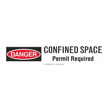 "Confined Space Permit Required 3"" x 500' Barricade Tape"