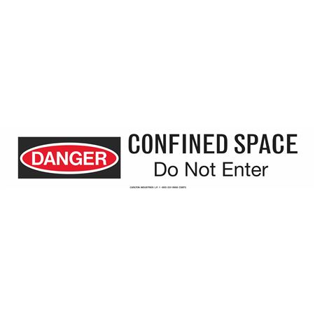 """Confined Space Do Not Enter 3"""" x 500' Barricade Tape"""