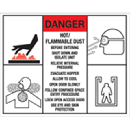Custom Sized and Printed Safety Signs - (Vinyl with Adhesive) - 101 to 250 sq. inches 101-250 sq.inches