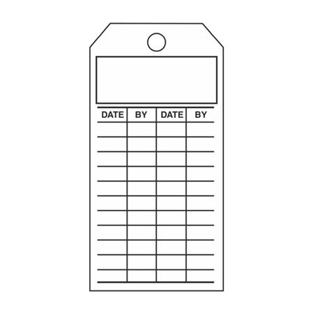 Single-Sided Inspection Tags - Blank - Cardstock 2.875 x 5.75