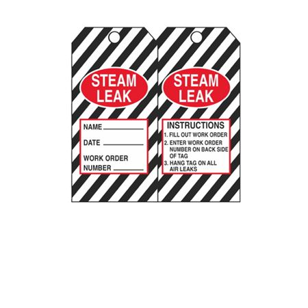 Dual-Sided Tags - Steam Leak - Black Cardstock 2.875 x 5.75