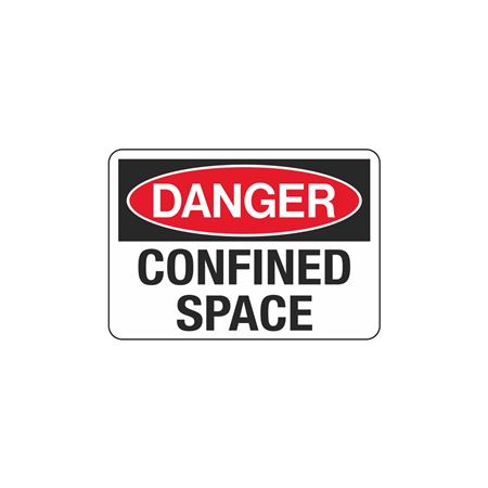Confined Space Decals - Danger Confined Space 3.5 x 5