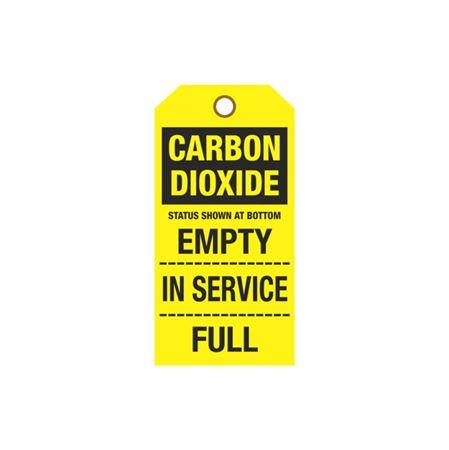 Cylinder Tags - Carbon Dioxide Sign