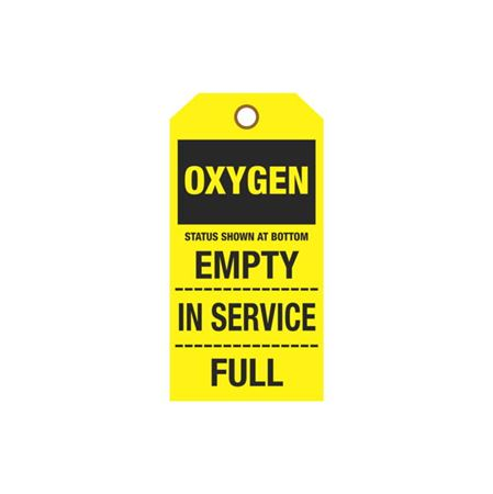 Cylinder Tags - Oxygen Sign