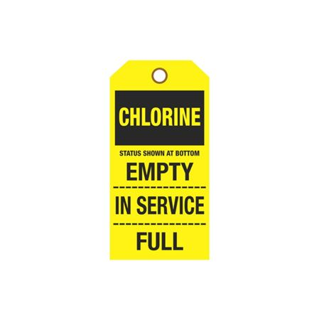 Cylinder Tags - Chlorine Sign