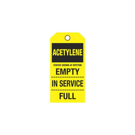 Cylinder Tags - Acetylene Sign