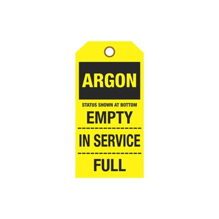 Cylinder Tags - Argon - Sign