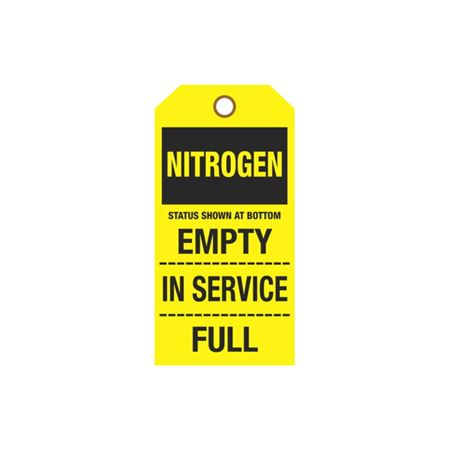 Cylinder Tags - Nitrogen Sign